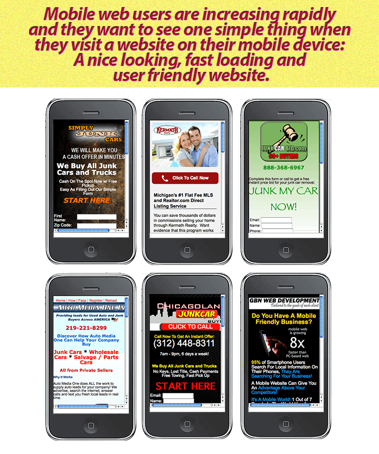 Need a mobile website
