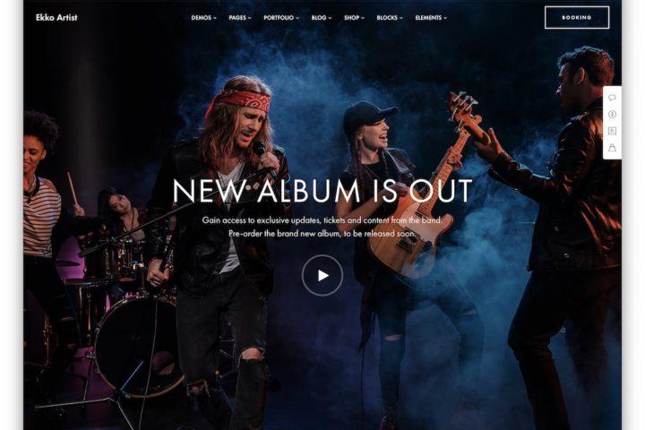 Entertainment Website designer